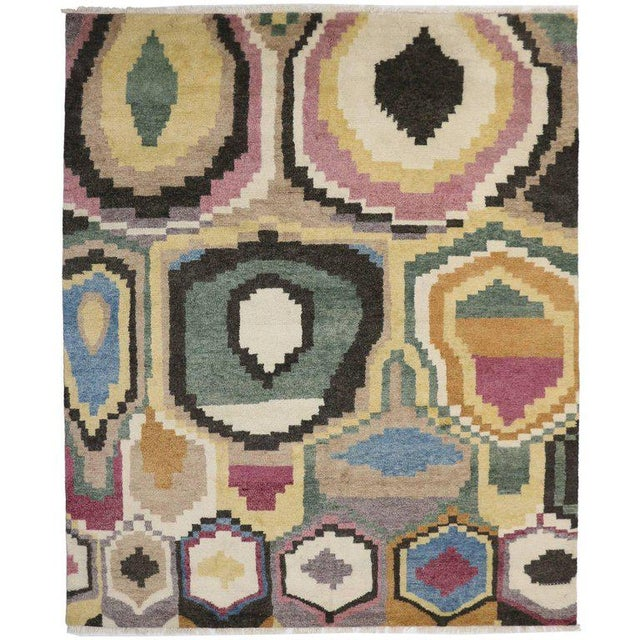 New Contemporary Moroccan Rug With Post-Modern Bauhaus Style - 10′4″ × 12′4″ For Sale - Image 4 of 4