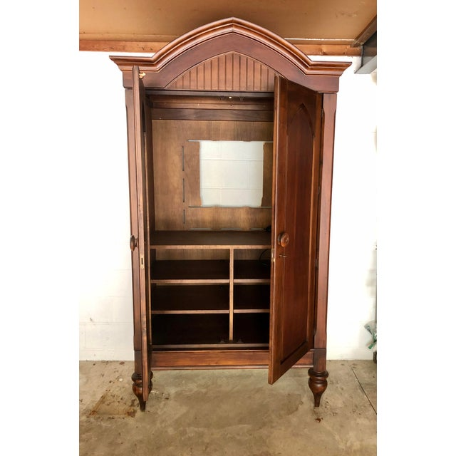 Jim Peed for Romweber Rustic Hardwood Armoire For Sale In New York - Image 6 of 13