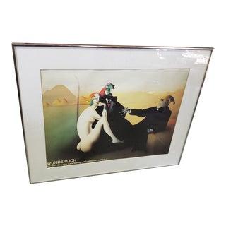 1980s Vintage Paul Wunderlich Surrealist Print For Sale