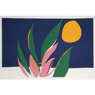 "Hirsch, ""Untitled 2 (Flowers and Sun),"" Serigraph"