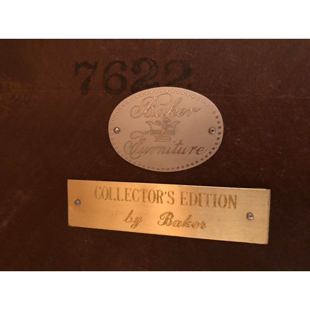 Mid-Century Modern Baker Furniture Collector's Edition Scalloped Tray Table For Sale - Image 10 of 11