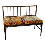 Image of 1920's Faux Bamboo Bench For Sale