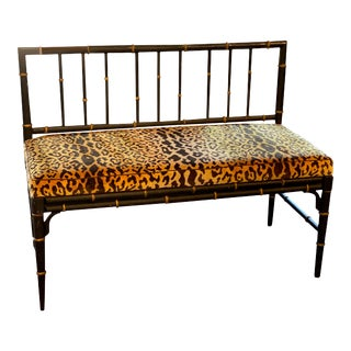 1920's Faux Bamboo Bench For Sale