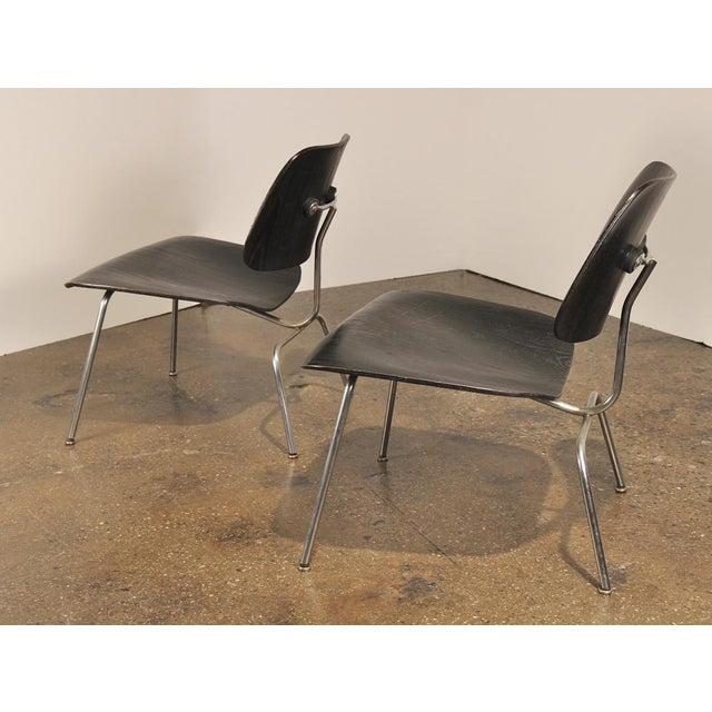 Danish Modern 1950s Black LCM by Charles and Ray Eames for Herman Miller - a pair For Sale - Image 3 of 8