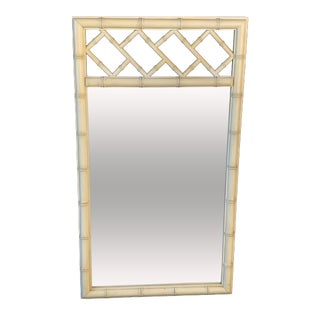 Vintage Dixie Faux Bamboo Chinese Chippendale Wall Mirror For Sale