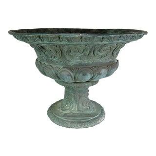 19th C. Bronze Ornate Planter For Sale