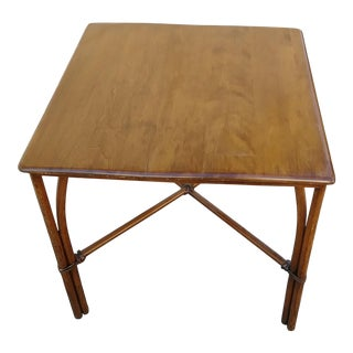 Vintage Heywood Wakefield Bamboo Table For Sale