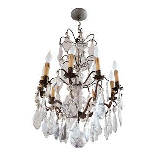Antique Swedish Baroque Crystal Chandelier For Sale