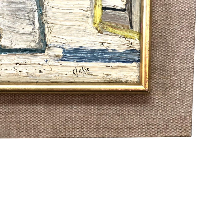 Abstract 20th Century Abstract Books on a Shelf Painting by Daniel Clesse For Sale - Image 3 of 5