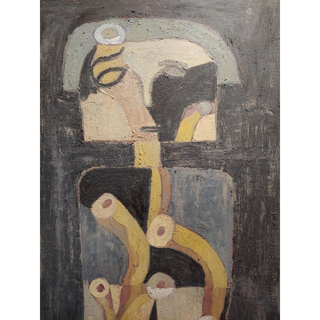 Miguel Castro Lenero -The Thinker -Abstract - Oil Painting For Sale - Image 4 of 10