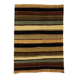 "Afghan Kilim Flat Weave Hand Knotted Rug - 3'4"" x 4'8"""