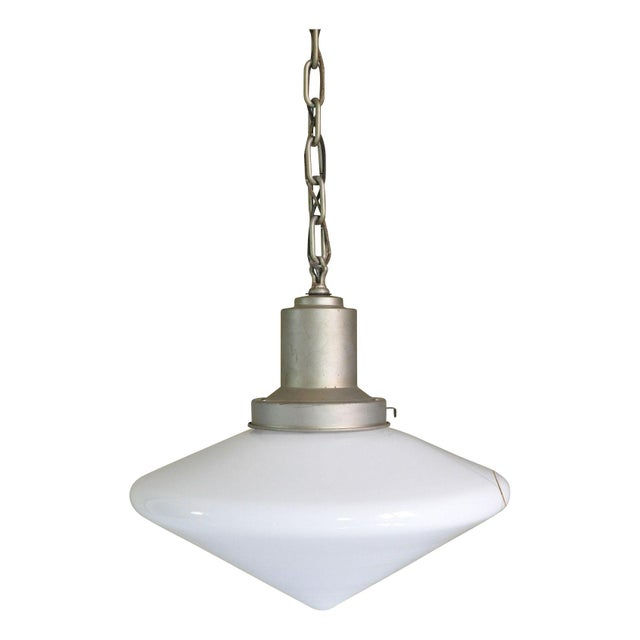 Large Conical Industrial Ceiling Fixture For Sale