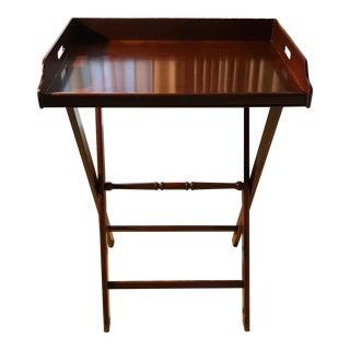 Mid-Century Mahogany Butler's Tray Table