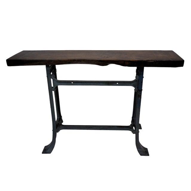 Handmade Walnut & Steel Console Table - Image 2 of 10