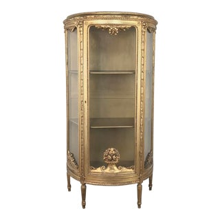 19th Century Italian Giltwood Louis XVI Vitrine For Sale