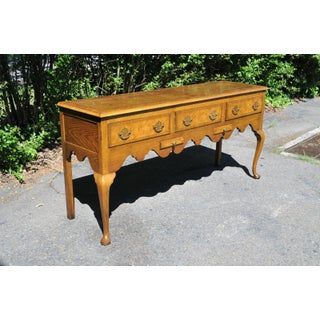 Vintage Baker Queen Anne Server Sideboard Huntboard Burl Wood & Oak Traditional Preview