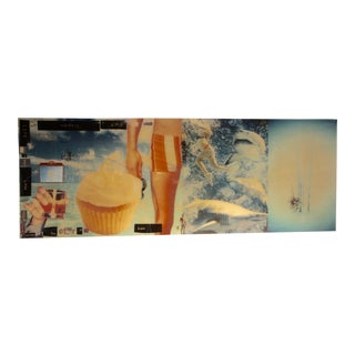 Spectacular Epoxy Resin Collage by the Noted American/English Artist Alex Echo For Sale