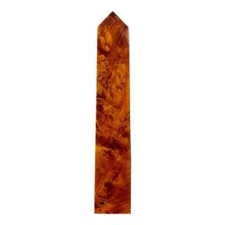 Vintage Burl Wood Obelisk