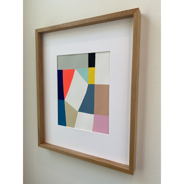 Contemporary Middle Form Painting, Framed For Sale - Image 3 of 6