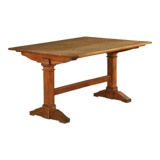 19th Century English Arts & Crafts Period Oak Library Table