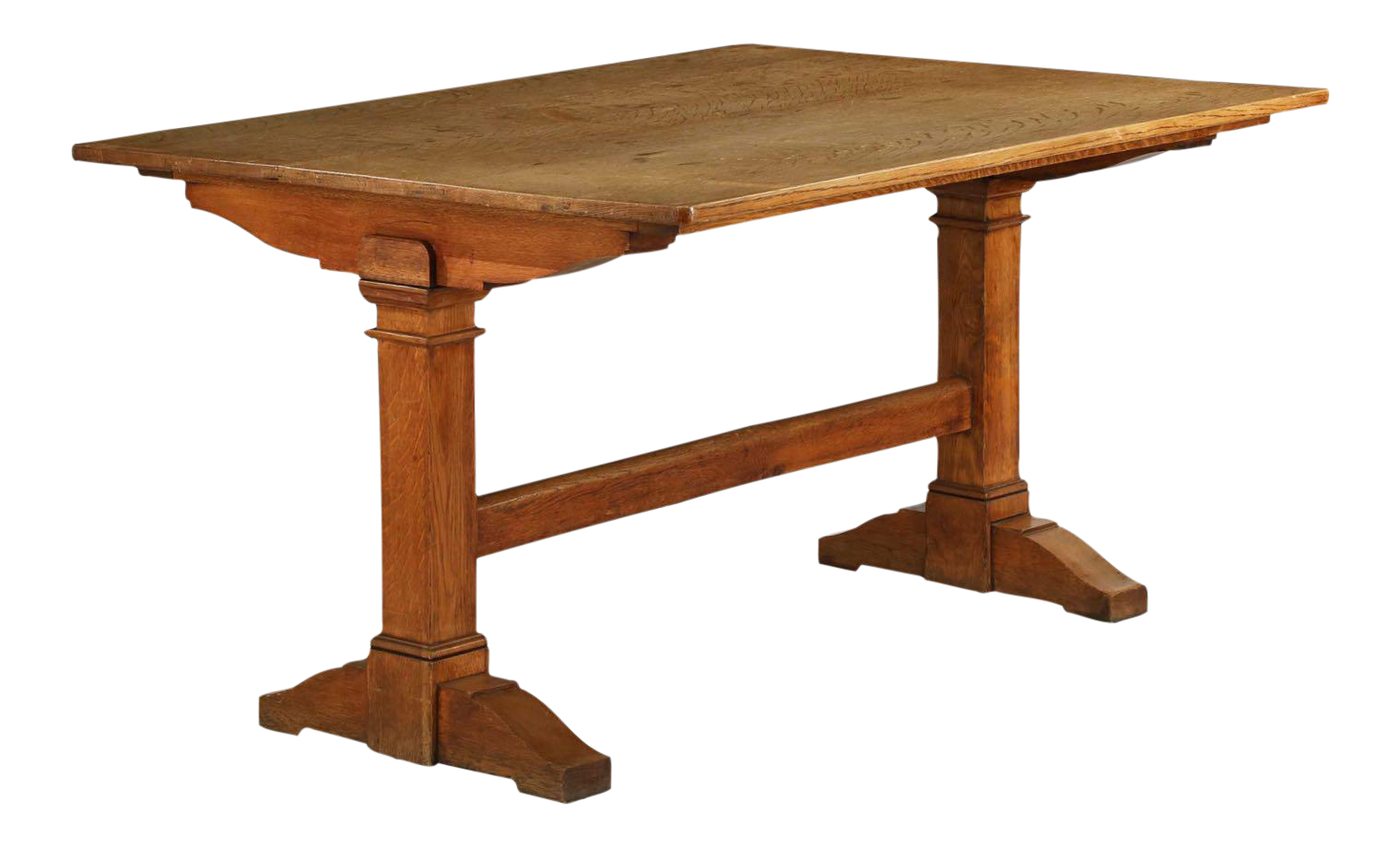 19th Century English Arts U0026 Crafts Period Oak Library Table