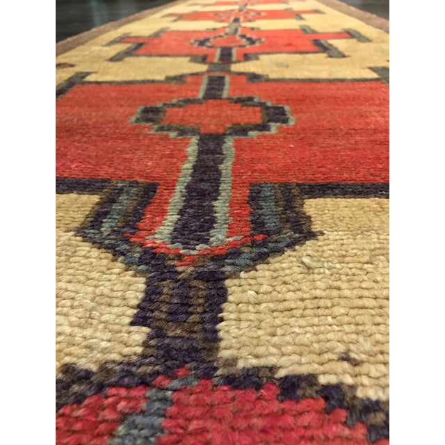 Bellwether Rugs Tribal Pattern Vintage Turkish Oushak Rug - 2′10″ × 12′3″ - Image 4 of 11