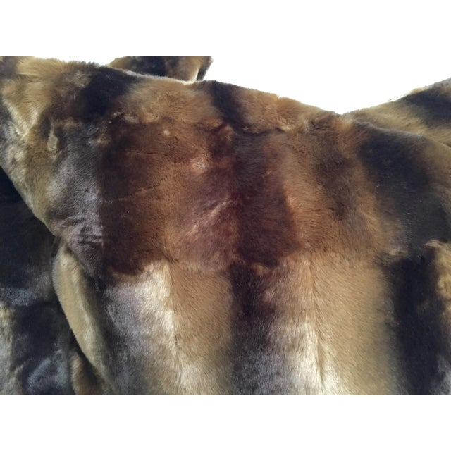 Contemporary Oversized Faux Mink Pillows - A Pair - Image 3 of 6