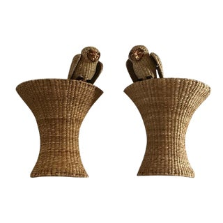 Mario Lopez Torres Perched Owl Wall Sconces - A Pair For Sale