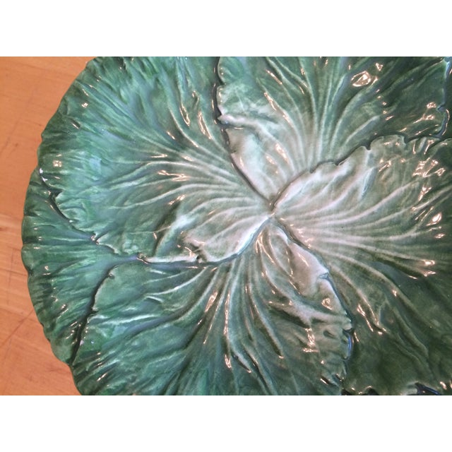 2010s Vietri Lettuce/Cabbage Plates, Ceramic, Green - Set of 6 For Sale - Image 5 of 8