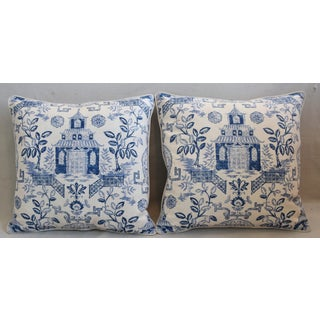 """Blue & White Chinoiserie Feather/Down Pillows 26 """" Square"""" -Pillows Preview"""