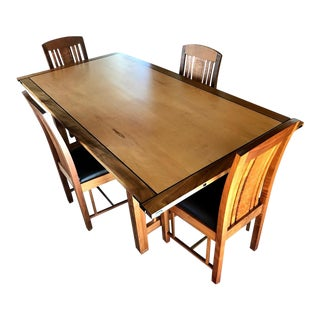 Handcrafted Craftsman Dining Set by David Gray - 5 Pieces For Sale