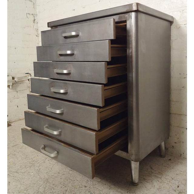 Restored Vintage Factory Cabinet For Sale In New York - Image 6 of 7
