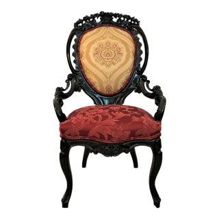 Ca. 1860 Victorian Rococo Chair For Sale