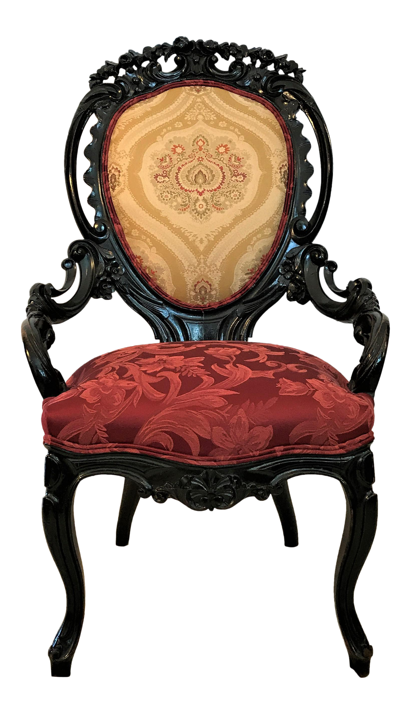 1860 Victorian Rococo Chair For Sale