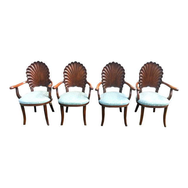 Late 20th Century Italian Venetian Grotto Dining Chairs- Set of 4 For Sale