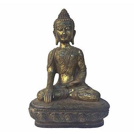 Gold Buddha Seated Statue - Image 1 of 6