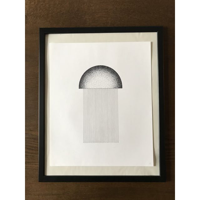 Abstract Jellyfish Hand Drawn Ink Illustration For Sale - Image 3 of 3