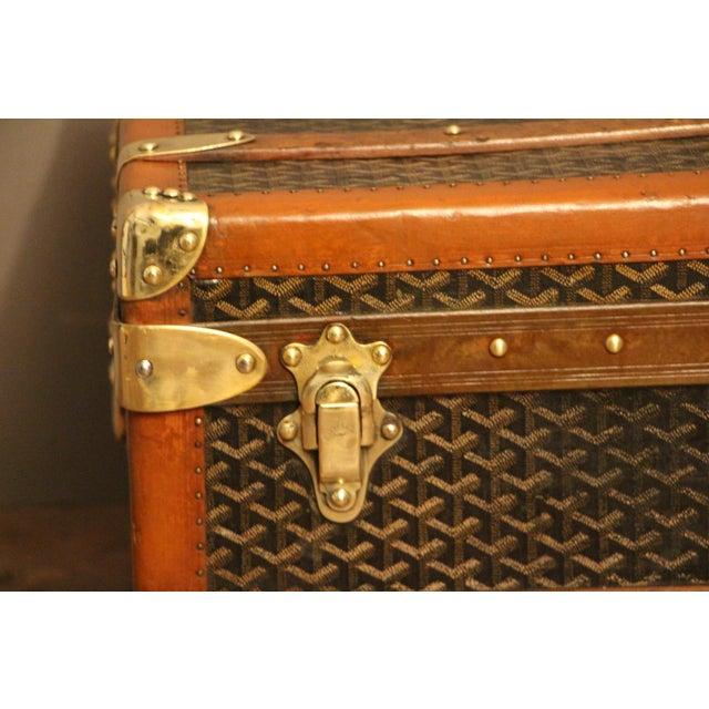 1930s Goyard Cabin Steamer Trunk For Sale - Image 6 of 13