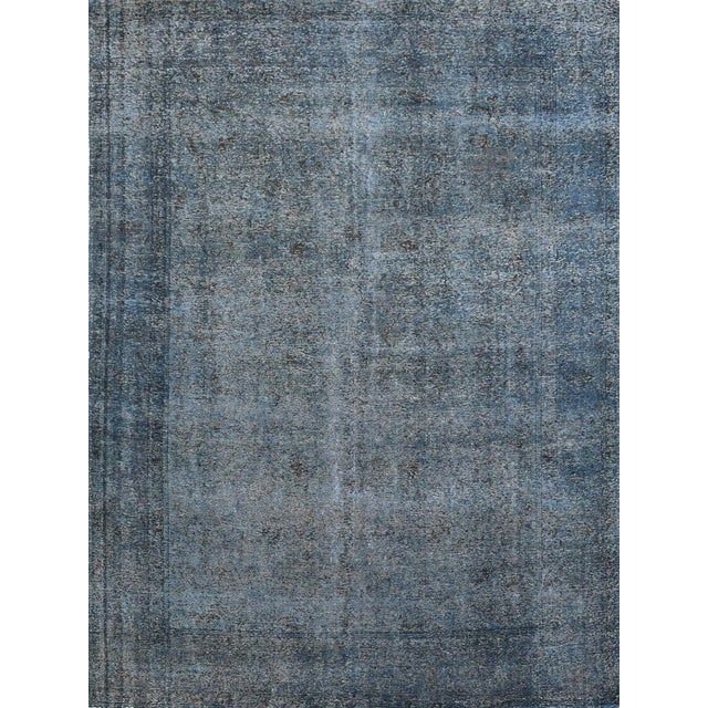 Vintage Blue Over-Dyed Rug - 9′8″ × 12′8″ - Image 1 of 2