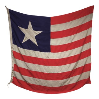Vintage Sewn Nautical Flag of Liberia For Sale