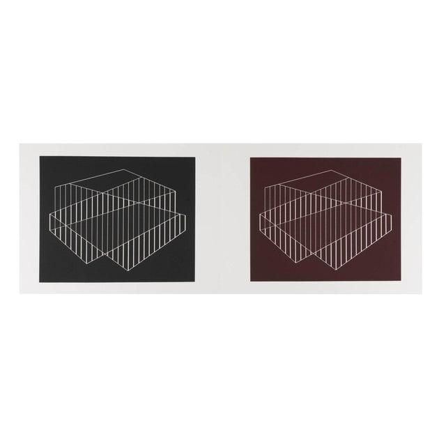Josef Albers Diptych Silkscreen No. 6 Portfolio II For Sale