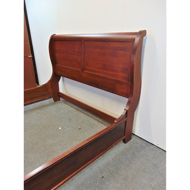 Nichols & Stone Queen Size Empire style sleigh bed, solid cherry. Matching Dresser and nightstands available in separate...