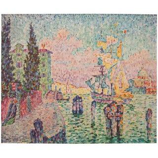 1947 Paul Signac Paysage De Venise Lithograph For Sale