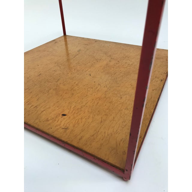 Red Dunbar Steel Frame Cocktail Table For Sale - Image 8 of 11