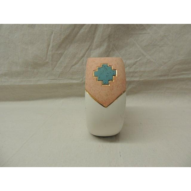Southwestern Round Ceramic Vase - Image 3 of 5