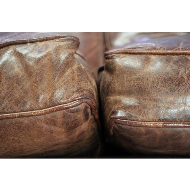 Brown Vintage Ralph Lauren Leather Floating Sofa For Sale - Image 8 of 13