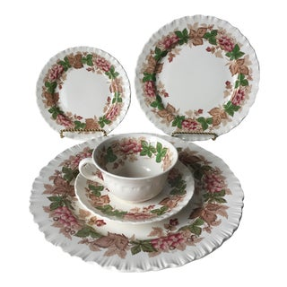 60 Piece Wedgwood 'Wildbriar' Transferware-12 Place Settings
