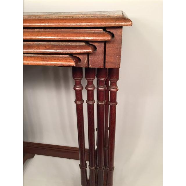 1820s English Walnut Nesting Tables, Signed - 4 - Image 8 of 11