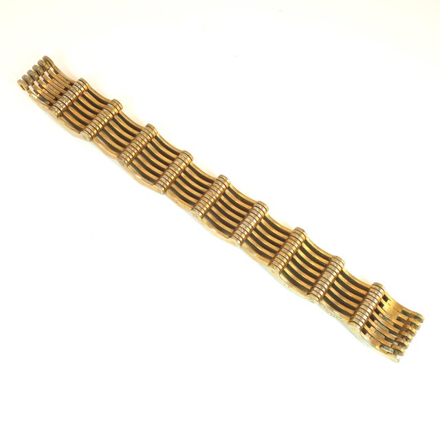 Roger Edet Paris Modernist Architectural Link Bracelet 1940s For Sale - Image 9 of 13