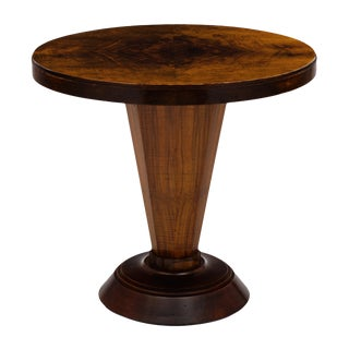 Art Deco Period Walnut Gueridon Table For Sale